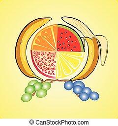 Fruit set of vitamins