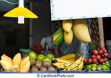Fruit shop stall