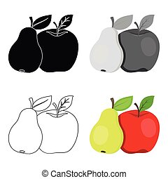 Fruit single icon in cartoon style .Fruit,vector symbol stock illustration web.