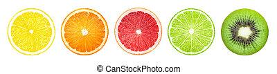 Fruit slices banner
