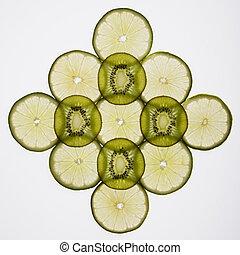 Fruit slices.