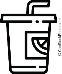 Fruit smoothie icon, outline style