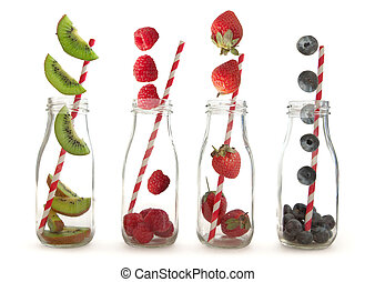 Fruit smoothie making concept