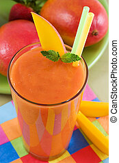 Fruit smoothie - Mango strawberry smoothie