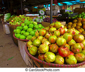 fruit stall - Stall at Vietnamese market at Sa Pa region