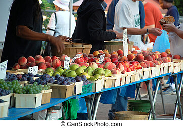 Fruit stands at the Farmers Market