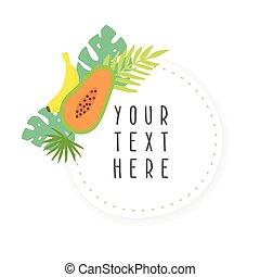 Fruit sticker template.