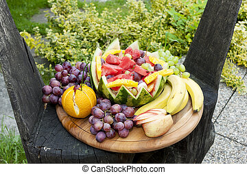 fruit still life with water melon