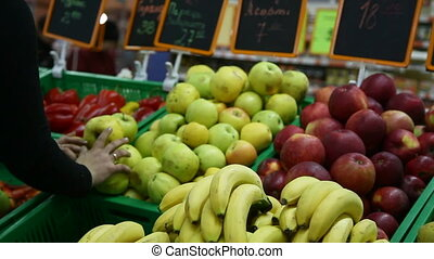 fruit - counter with fruit