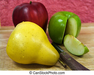 Fruit - Photo of Fruit on a Cutting Board.