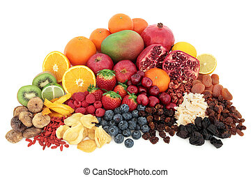 Fruit Superfood - Large superfood fresh fruit selection over...