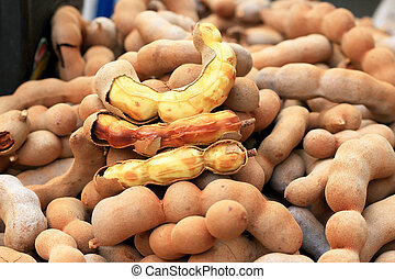 fruit tamarind in the market