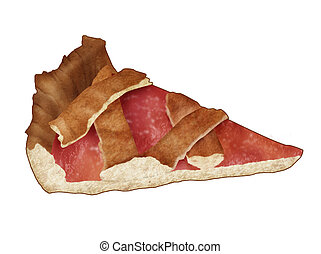 Fruit tart - Illustration of a realistic fruit tart,...