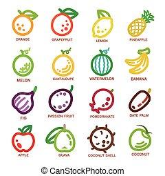 fruit thin line icon