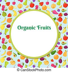 Fruit vector background with place for text