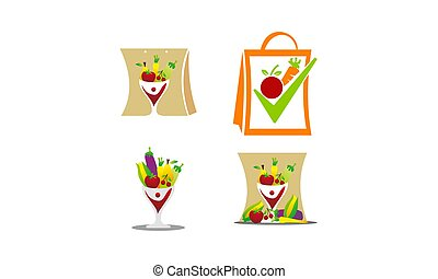 Fruit Vegetable Store Template Set