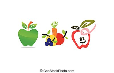 Fruit Vegetable Template Set
