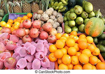 Fruit vendor's display - A display of fruit on a Sri Lanka...