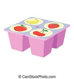 Fruit yogurt icon