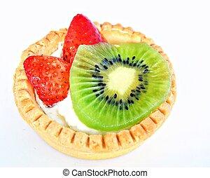 Fruitcake sore isolated white background
