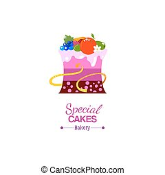 Delicate cake Icon with waist