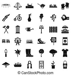 fruiter, ícones, jogo, simples, estilo