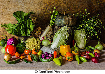 fruits., ζωή , ακίνητο , βοτάνι , λαχανικά