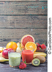 Fruits and berry smoothie