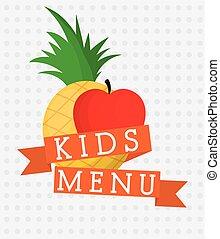 Fruits and kids menu design