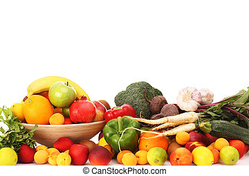 Fruits and vegetables - A picture of fruits and vegetables...