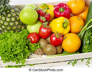 Fruits and vegetables close-up