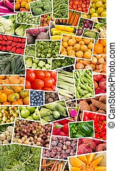 Fruits and Vegetables Collage