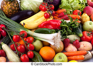 Fruits and vegetables - Collection of fruits and vegetables.