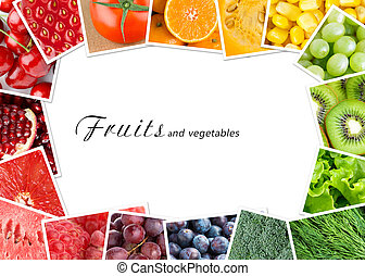 Fruits and vegetables concept - Fresh fruits and vegetables....