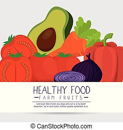 fruits and vegetables group pattern