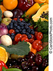 Fruits and Vegetables - Healthy vegetables and fruits