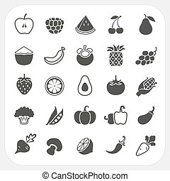 Fruits and Vegetables Icons with frame background, EPS10,...
