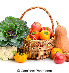 Fruits and vegetables in basket