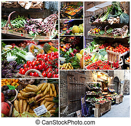 Fruits and Vegetables outside of a store in italy