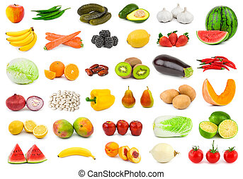 Fruits and vegetables - Set of fruits and vegetables...