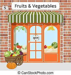 Fruits and vegetables shop - Local fruit and vegetables...