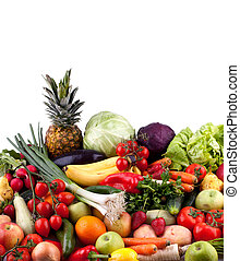 Fruits and vegetables - Collection of fruits and vegetables...