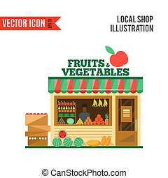 Fruits and vegetables vector shop
