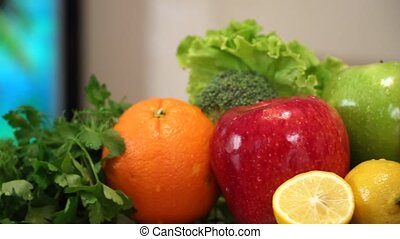 Fruits and Vegetables with Juice.