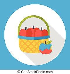 fruits apple flat icon