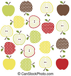 fruits, apples background