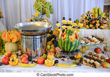 fruits arrangements for luxury events