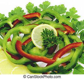 fruits, assorti, légumes