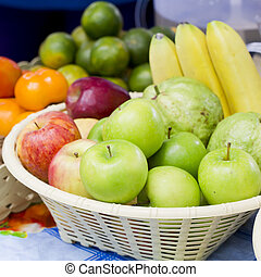 Fruits at a farmers market