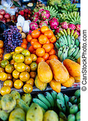 Fruits at market for sale